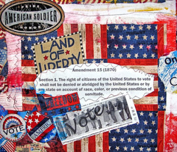 Detail: Obama Election Quilt 2