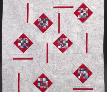 modern quilt, patriotic quilt